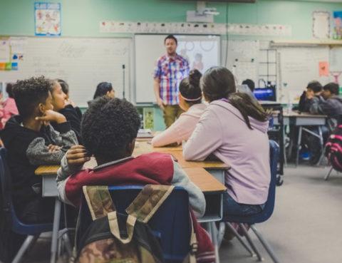 high school classroom students at desks
