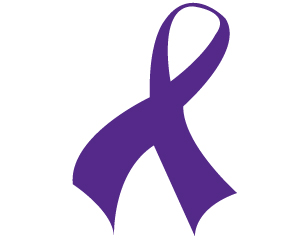 addiction awareness purple ribbon