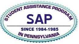 Blue and purple logo for PA Student Assistance Program
