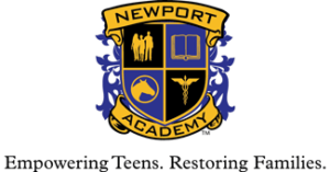 logo for newport academy