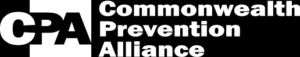 Black and white logo for the Commonwealth Prevention Alliance